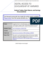 Caught on Tape Institutional Trading, Stock Returns