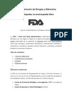Administración de Drogas y Alimentos - FDA-USA