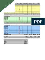Budget & Bills Worksheet