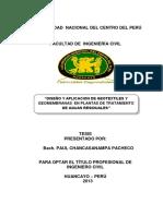 Tesis Diseño y Aplicacion de Geotextiles y Geomembranas en Plantas de Tratamiento de Aguas Residuales