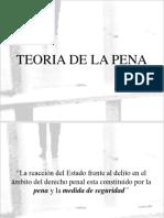 Teoria de La Pena Derecho Penal.