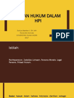 Badan Hukum Dalam Hukum Perdata Internasional