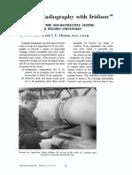 Gamma Radiography With Iridium-192