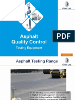Introduction to Asphalt Testing Products manufactured by Aimil Ltd India