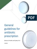 General Guidelines for Antibiotic Prescription
