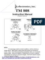 Whites TM808 Manual