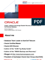 Create, Configure and Manage Disaster Recovery in Oracle Cloud for on-Premises Database