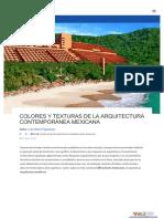 coloes y texturas en la arq cntemporanea mexicana