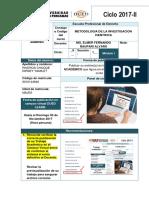 Metodologia de La Investigacion Cientifica 2017 Uap