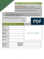 2017 02 Questionnaire - Sales Manager - Bucharest