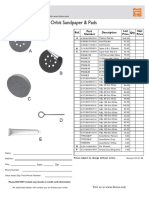 Msf_636-1 Sandpaper- Pads Specification Sheet