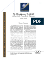 The Miscellaneous Tariff Bill A Blueprint for Future Trade Expansion, Cato Trade Briefing Paper No. 30