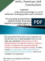 2. Arguments Premises and Conclusions