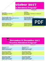 Sistahood 8 Sessions Program Thursday, 12 October 2017 22-19-25