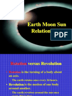 1. Relative motion of Earth, Moon, Sun