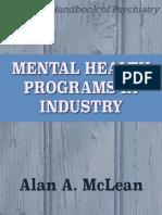 Mental Health Programs in Industry