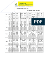 Master Time Table Mech Even 2016-17