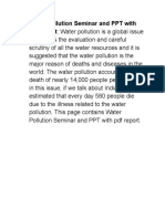 Water Pollution Seminar