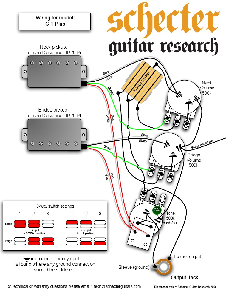 Schecter Guitar Wiring Diagrams - Wiring Liry Diagram H7
