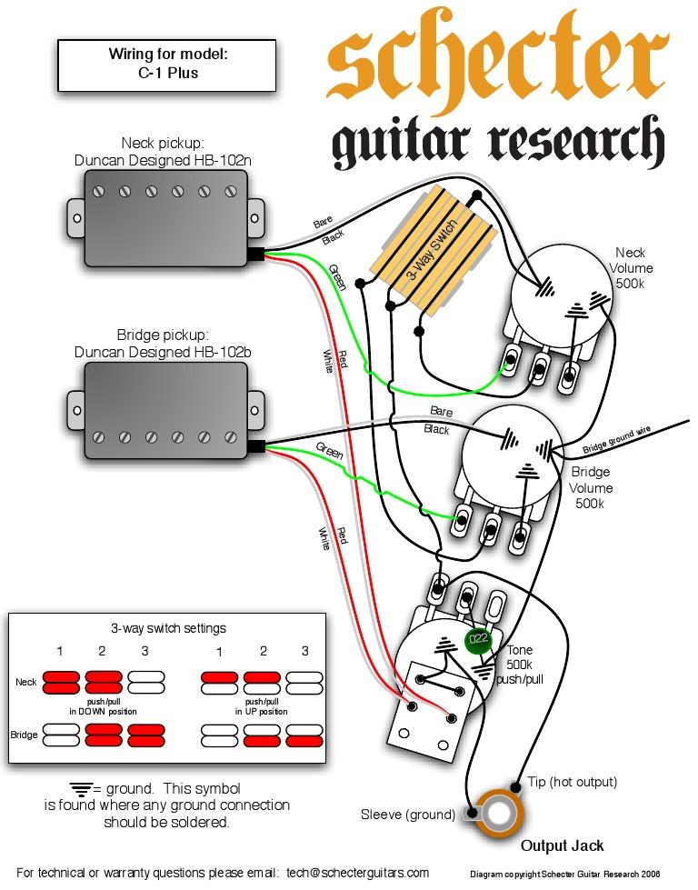 Schecter Wiring Diagrams - Wiring Diagram Third Level on