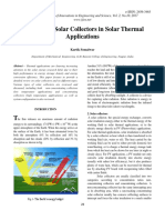 A Review of Solar Collectors in Solar Thermal Applications