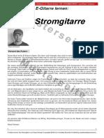 E-Gitarre Lernen - DIE STROMGITARRE - Von Klaus Schwarz (Tunesday Bestellnummer TUN26) - Musterseiteniten Für Interessenten