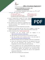 Registration Guidelines for Even Sem 2017 18