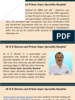 Dr R K Sharma and Primus Super Speciality Hospital