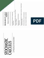 Stochastic Claculus - Durrett