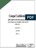Lenovo G580 Compal La-7981p r1.0 Schematics