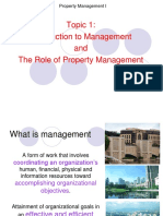 Topic 1 Introduction to Property Management