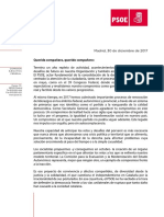 Carta Pedro Sánchez