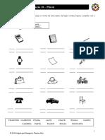 Português para Estrangeiros - Lição 10 - Exercício 03 - Plural