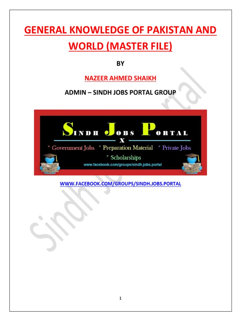 general knowledge collection by sindh jobs portal nature rh scribd com Microsoft Word Style Sets Technical Publications Style Guide