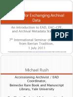 Archival metadata standard