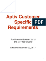Customer Specific Requirements