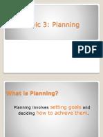 Topic 3 Planning
