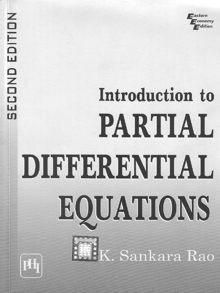 4 Partial Differential Equation By K