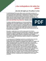 Guerrero, Práxedis G. - Manifiesto a Los Trabajadores de Todos Los Paises