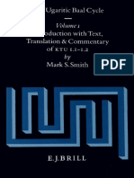 Mark S. Smith the Ugaritic Baal Cycle, Volume I Introduction With Text, Translation and Commentary of KTU 1.1.-1.2