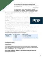 Understanding the Science of Measurement Scales - DoctoralHub.com