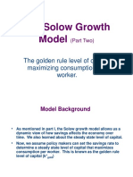 Macro4 Solow Growth Model 2 Golden Rule