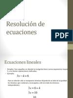 Resolución de Ecuaciones(1)