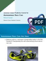 Nonlinear Model Predictive Control for Autonomous Race Cars