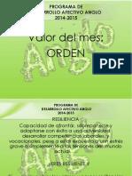 Valor Del Mes Orden 2014-2015
