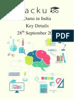 Dams in India PDF List