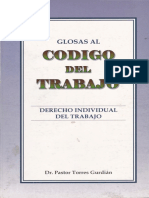 Glosas Al Codigo de Trabajo - Derecho Individual - Pastor Torres Gurdian