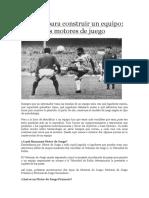 Artículos de M. Perarnau sobre Fútbol