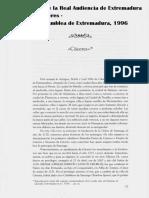 CÁCERES en el Interrogatorio de la Real Audiencia de Extremadura de 1791