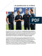 El concepto de planificación en el fútbol